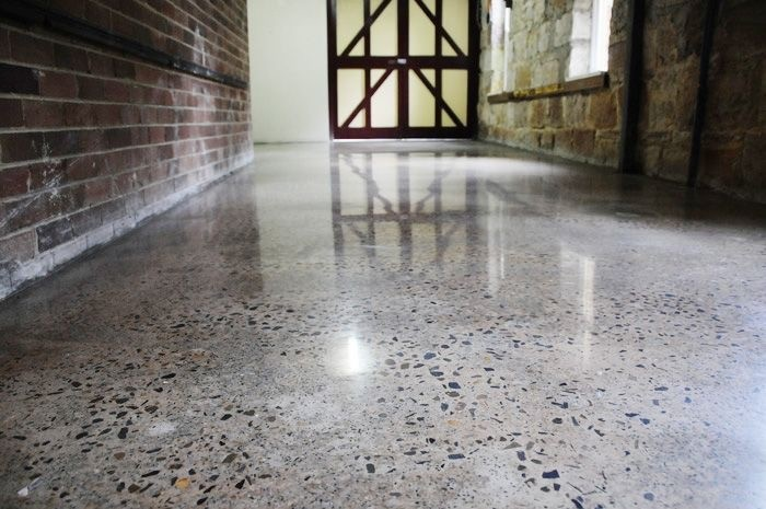 Concrete floor polishing